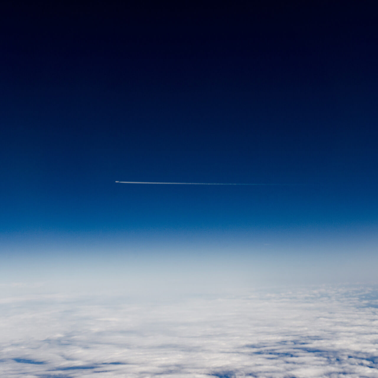 space shuttle flying in the sky