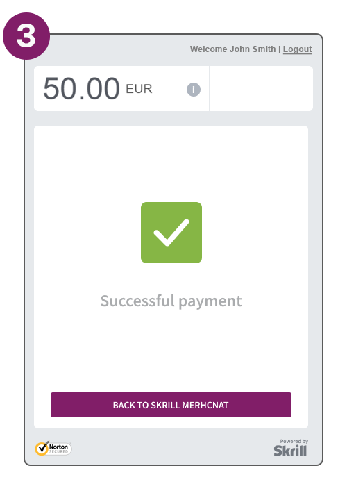 Payment flow screenshot complete payment